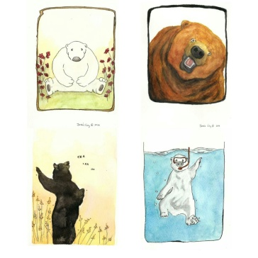 Four different types of 'Bears' that I illustrated.